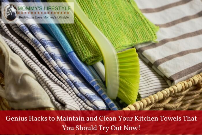 clean kitchen towels
