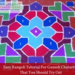 Easy Rangoli Tutorial for Ganesh Chaturthi that you should Try Out
