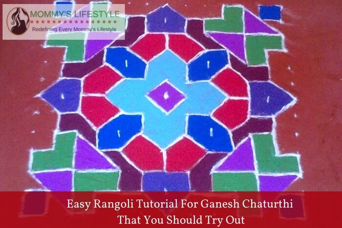 easy rangoli tutorial for ganesh chaturthi